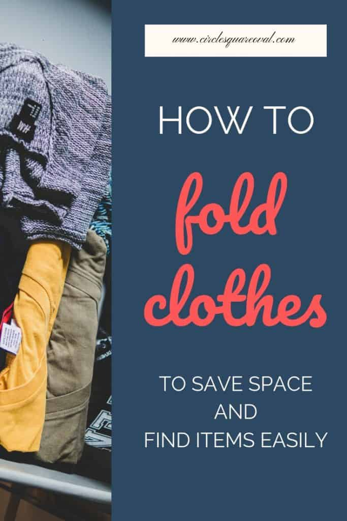 how to fold clothes in dresser