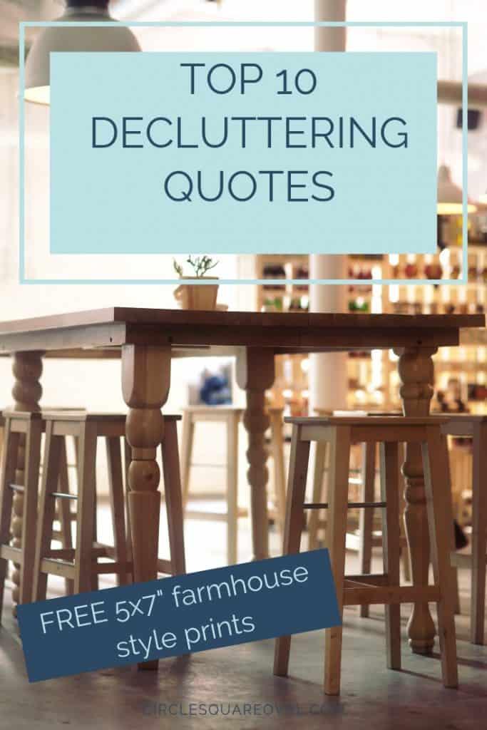 10 decluttering quotes