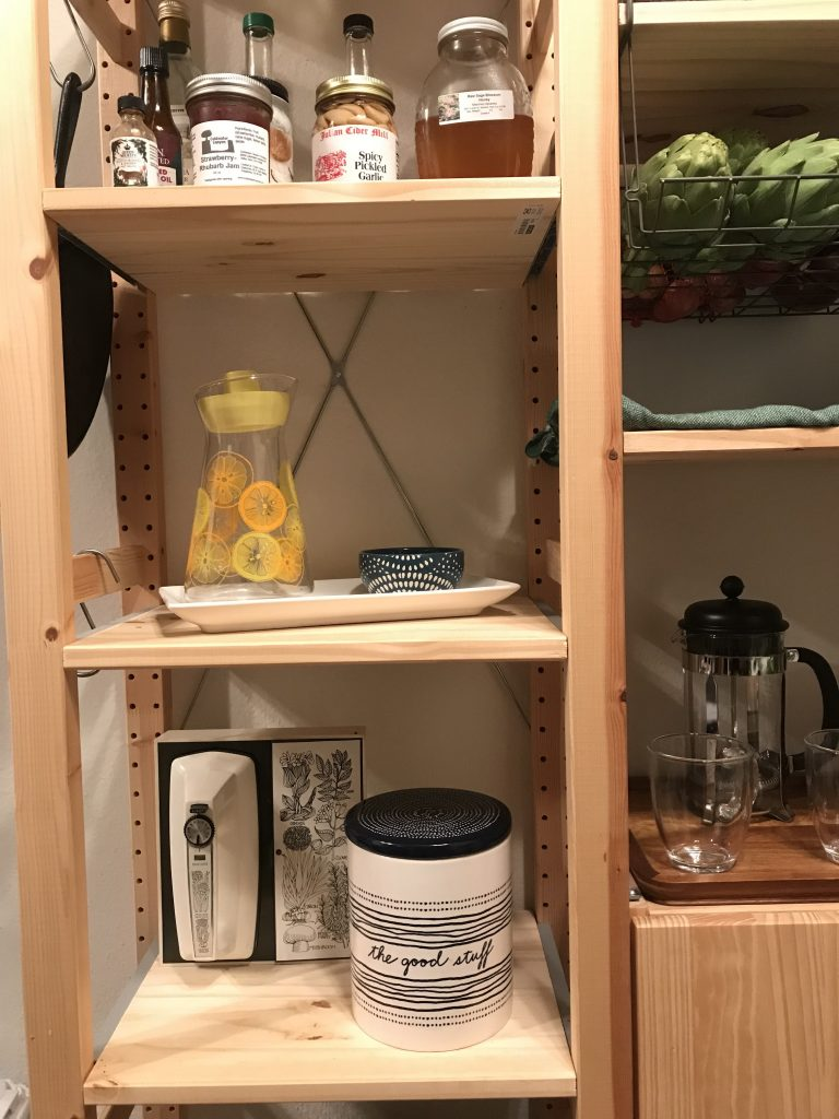 open shelf storage