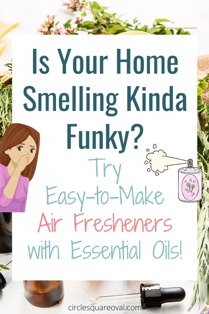 essential oil bottles and plants