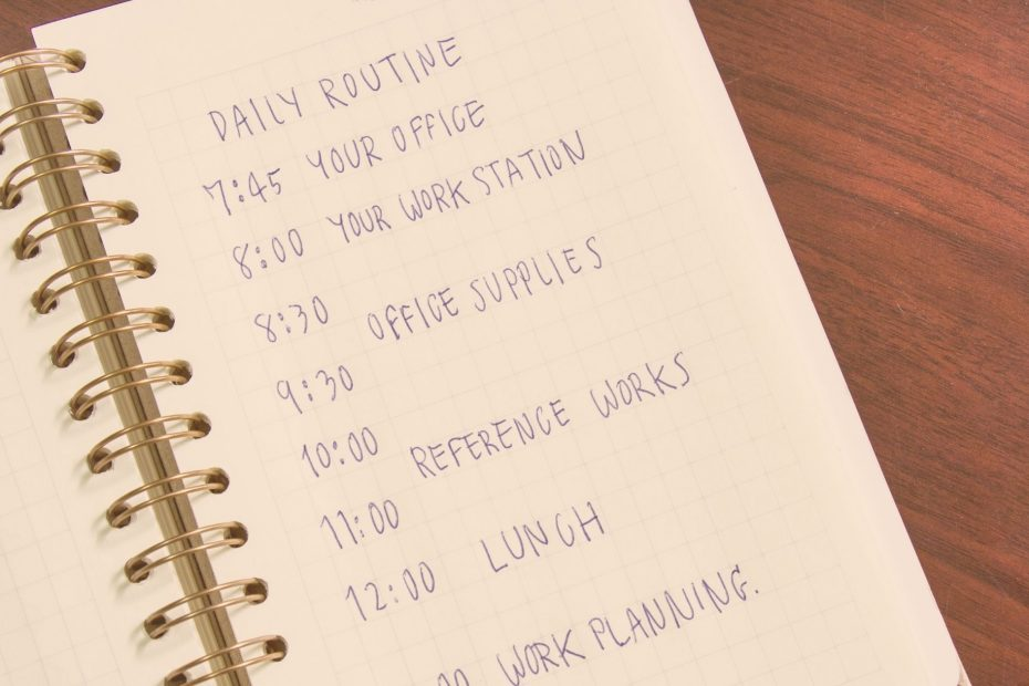 list of daily routines