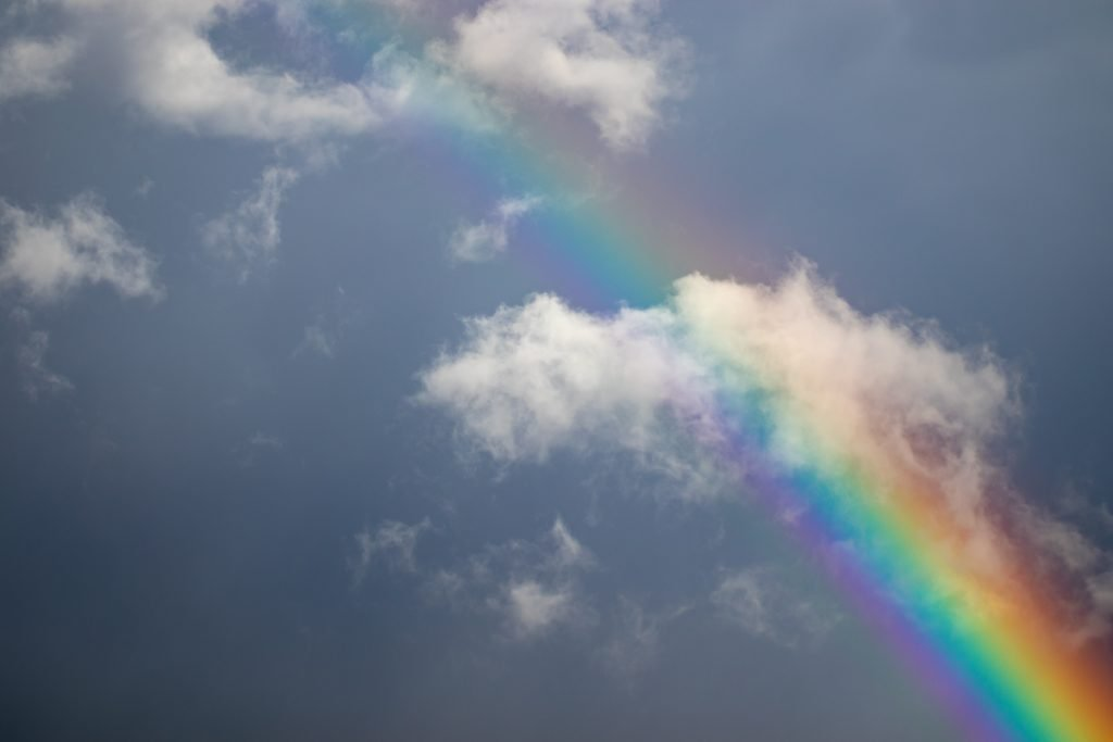 rainbow and clouds overcoming fear of failure