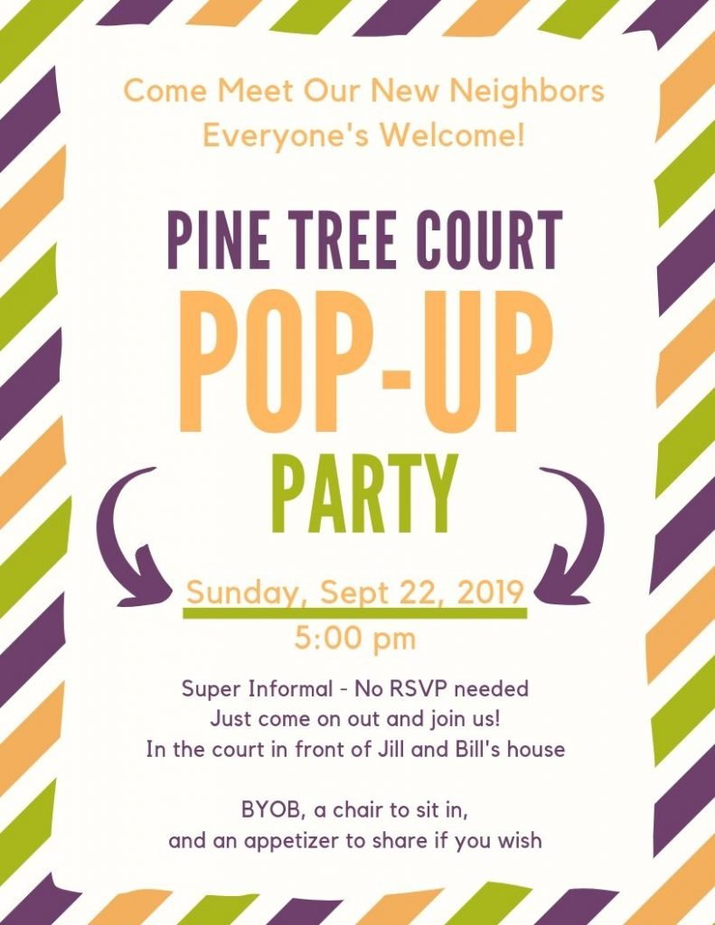 pop-up party invitation