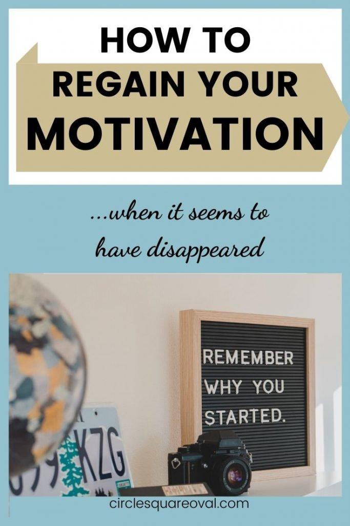 how to regain motivation