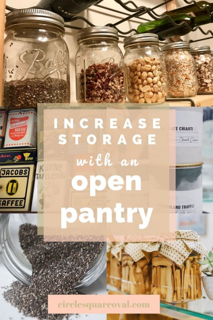 increase kitchen storage with an open pantry