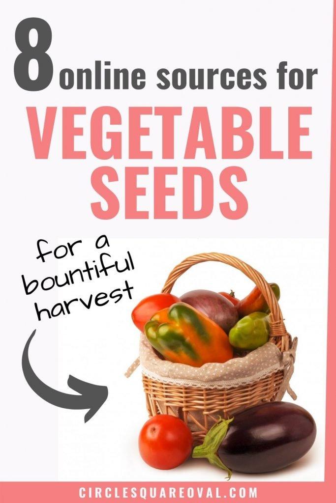 8 online sources for vegetable seeds