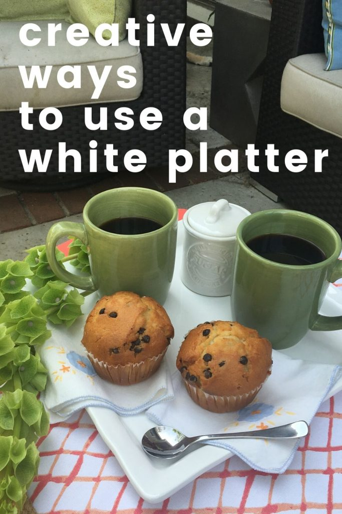 creative ways to use a serving platter