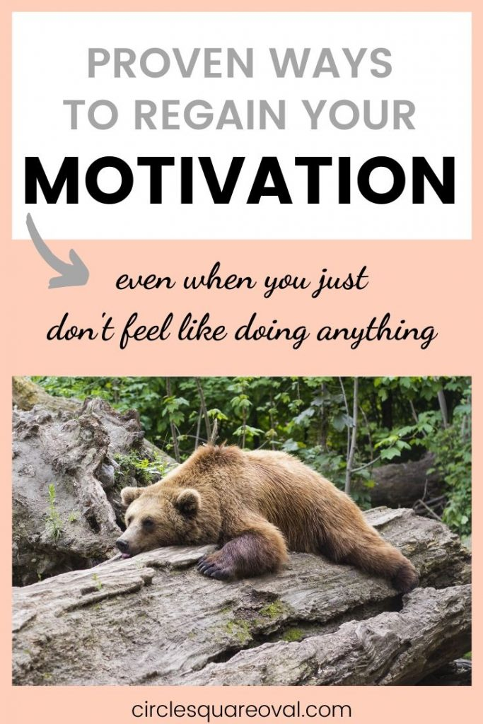 how to regain your motivation when it disappears