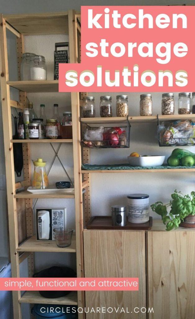 open pantry kitchen storage solution