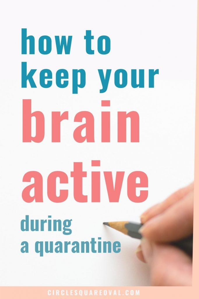 how to keep your brain active during a quarantine, hand using pencil