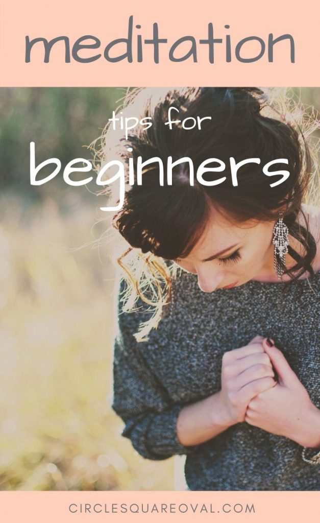 meditation tips for beginners, woman holding hands together while meditating