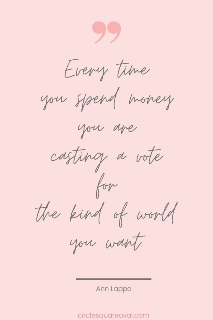 understanding basics of fair trade, quote every time you spend money you are casting a vote for the kind of world you want