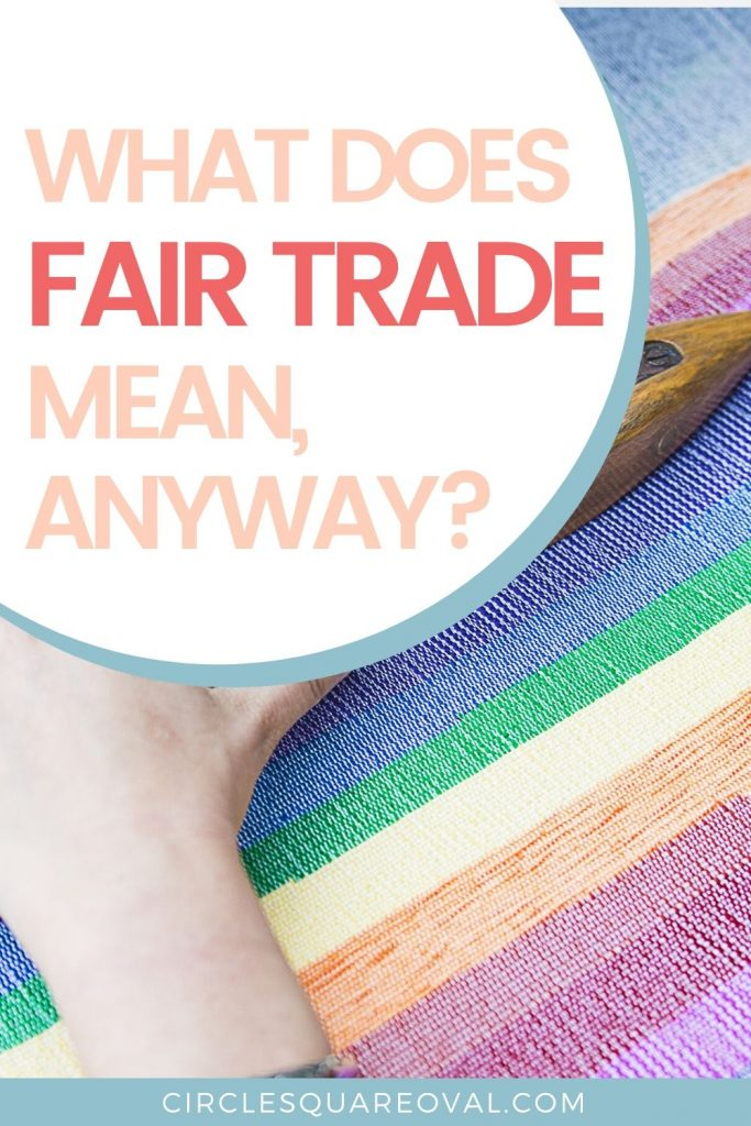 understanding basics of fair trade, picture of handloomed fabric in stripes