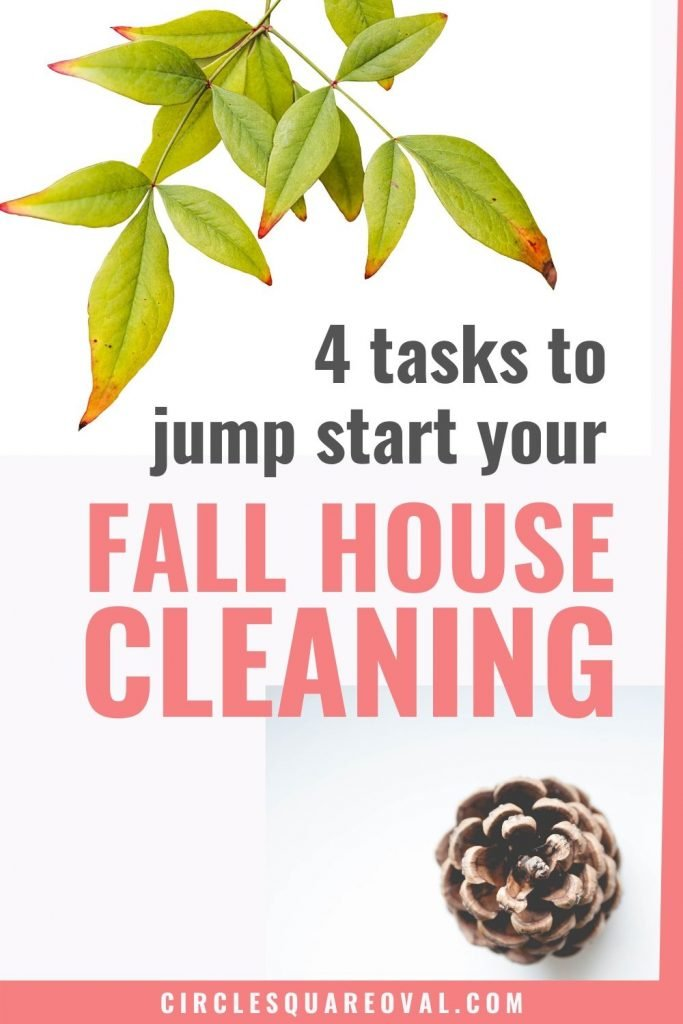 top four priorities of fall house cleaning