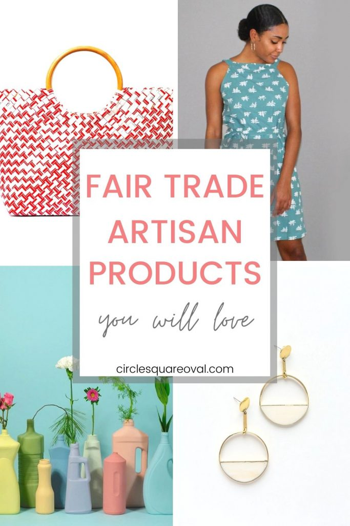 a collection of artisan products from fair trade brands including jewlery, clothing, porcelain and more