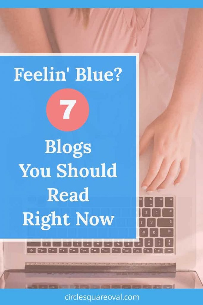 woman's hands near computer while sitting on bed reading positivity blogs