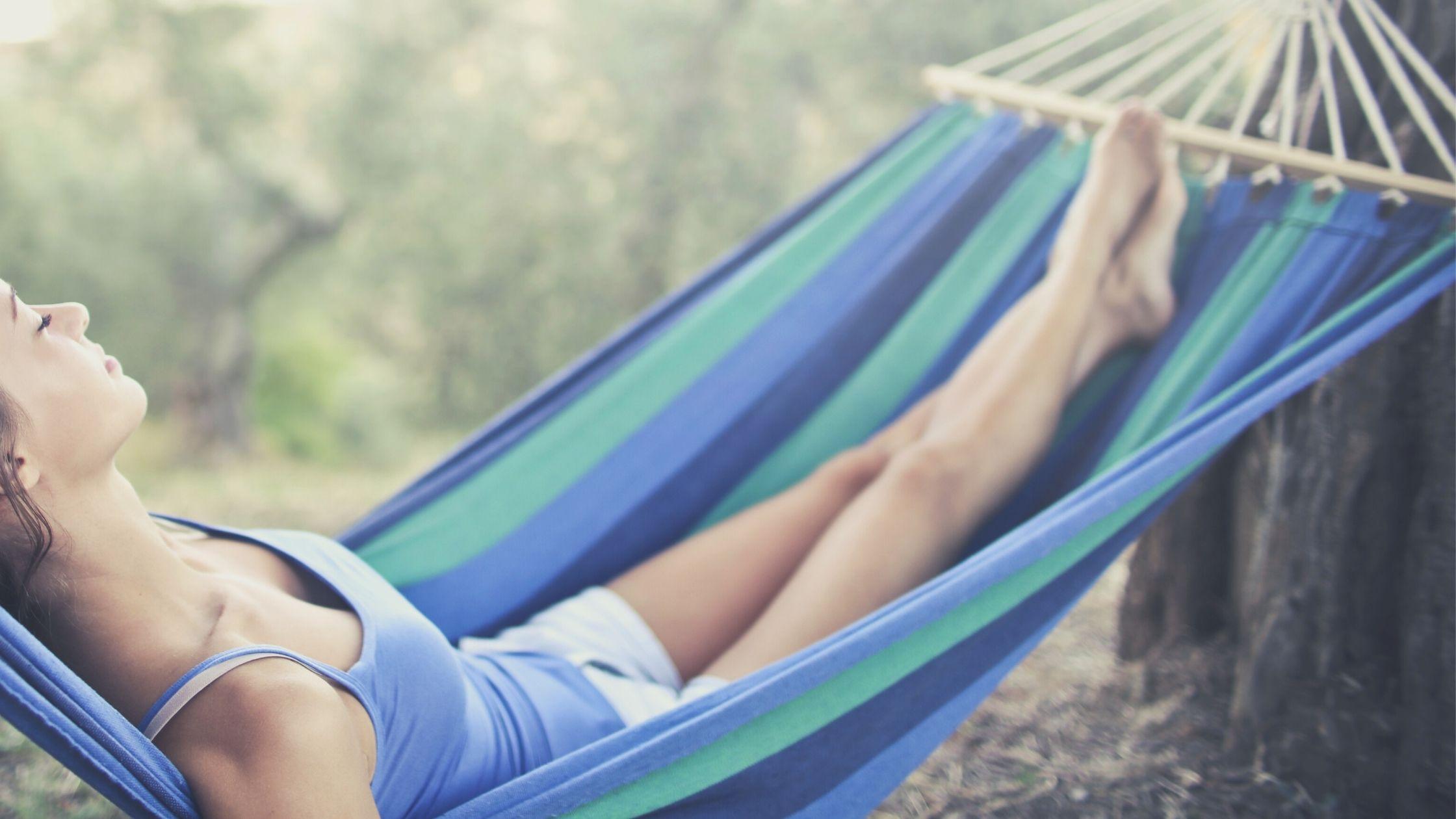 woman in hammock