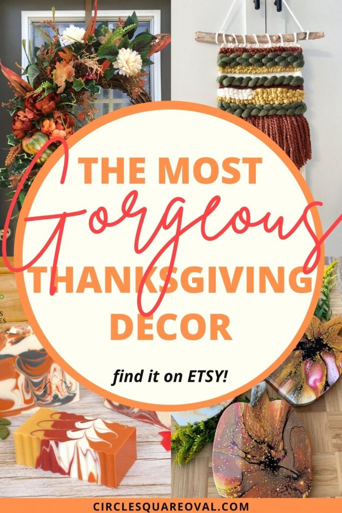 Thanksgiving decor - soaps, wreaths, coasters, wall hanging in fall colors
