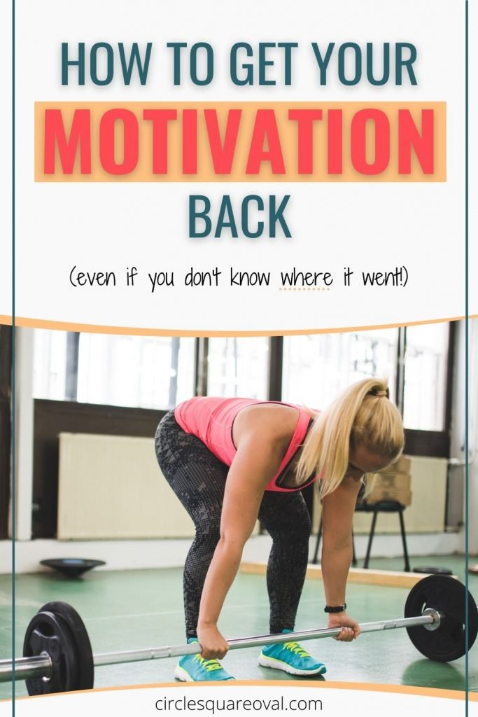 woman in workout wear getting ready to deadlift a weight bar, how to get your motivation back