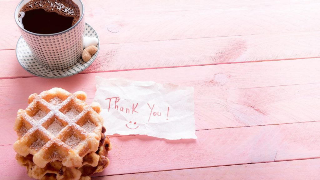 cookies and coffee - one of 13 creative ways to say thank you