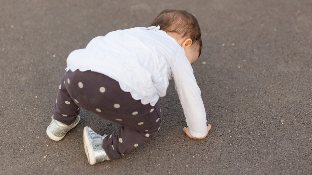 baby girl standing up after falling down, how to regain motivation