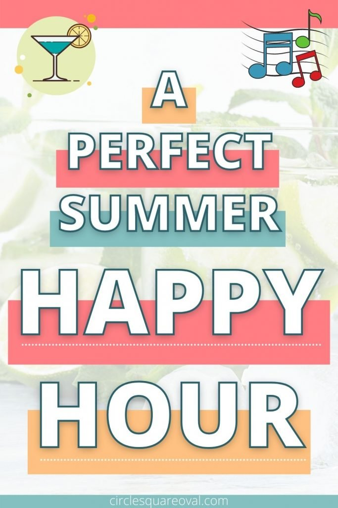 gin and tonics in the background, a perfect summer happy hour on the patio
