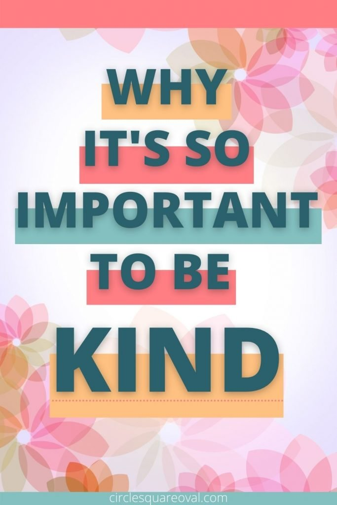 bright colored flowers and words why it's so important to be kind