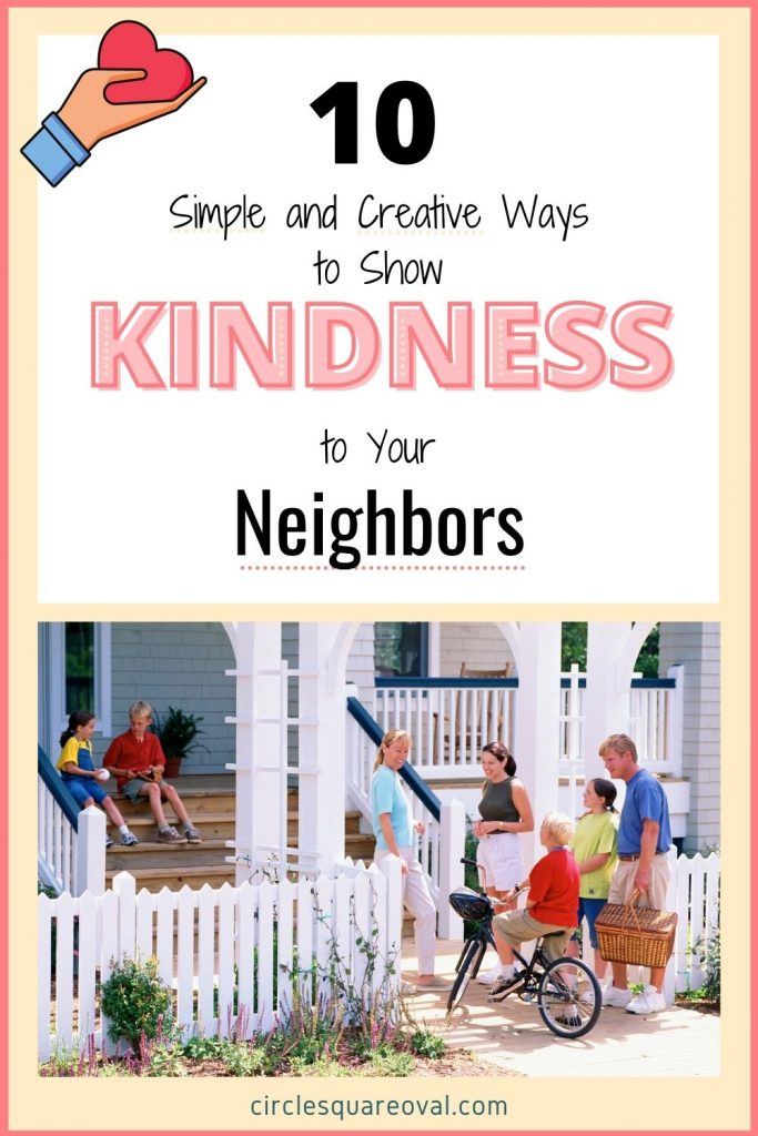 group of neighbors gathered around a front porch talking, acts of kindness to neighbors