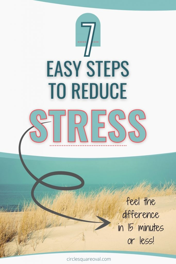 peaceful seaside with sand and grasses, 7 lightning fast ways to reduce stress