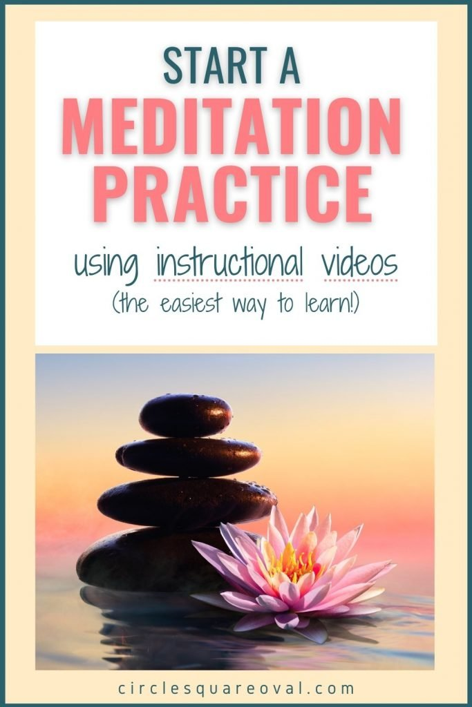rock stack and pink lotus in front of sunset, guided meditation for beginners