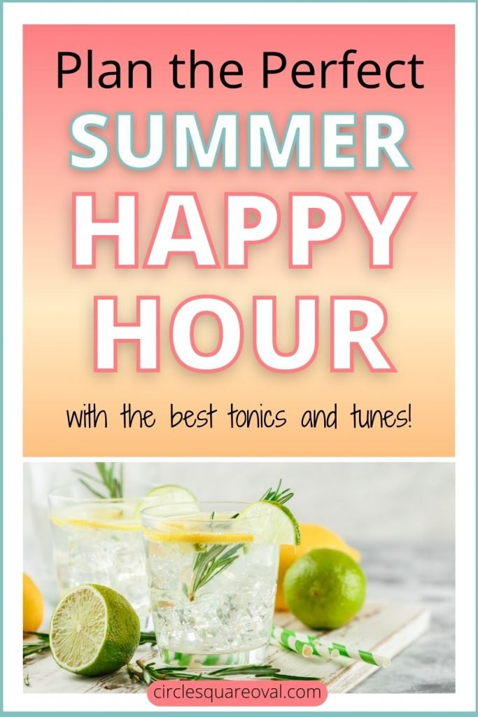 gin and tonics with lime, a perfect summer happy hour on the patio