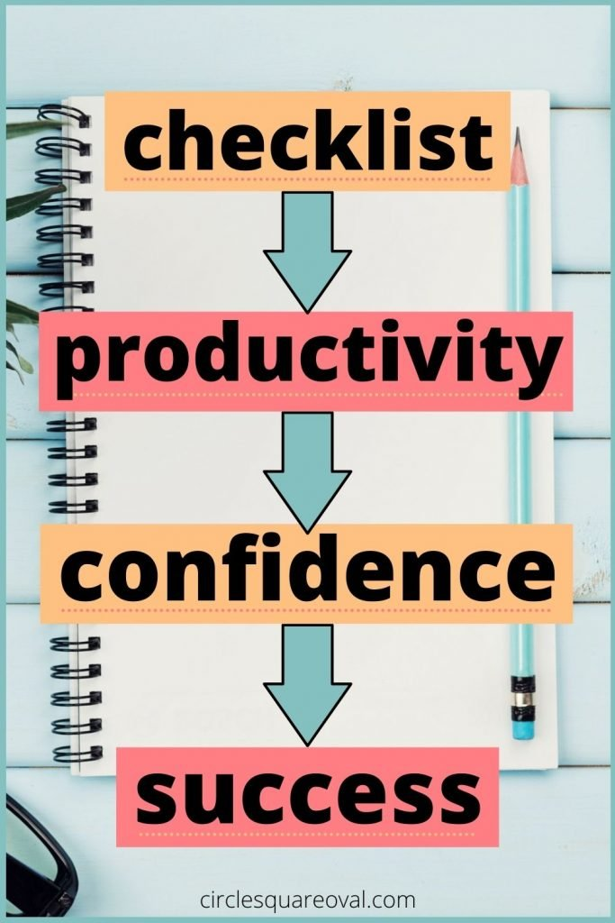 spiral notebook with checklist, how to get more organized with checklists