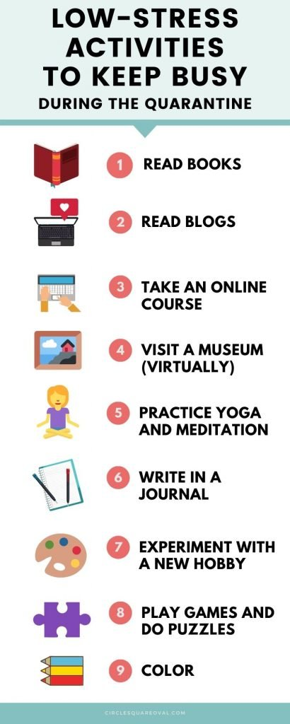 infographic with 8 ways to keep your mind active while reducing stress