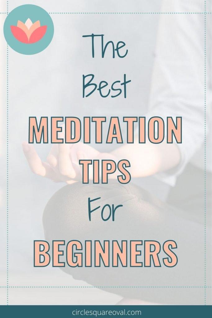 woman crosslegged meditating, best meditation tips for beginners