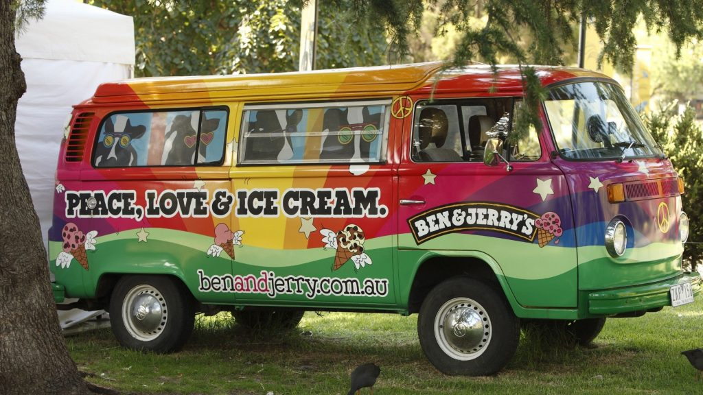 ben and jerry's ice cream truck, where can you find fair trade products