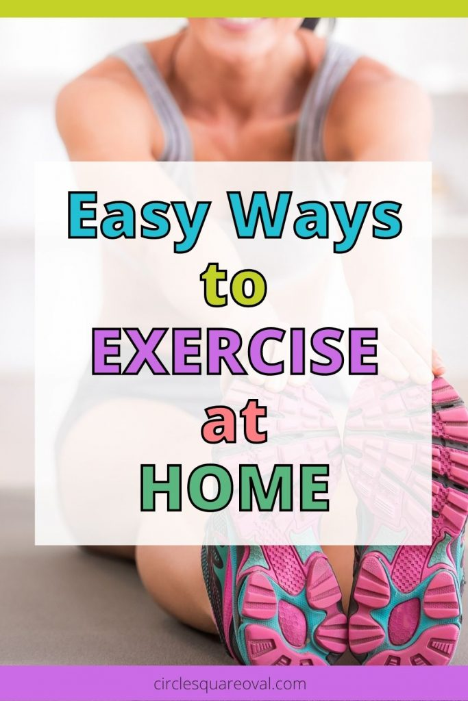 woman stretching before home exercise