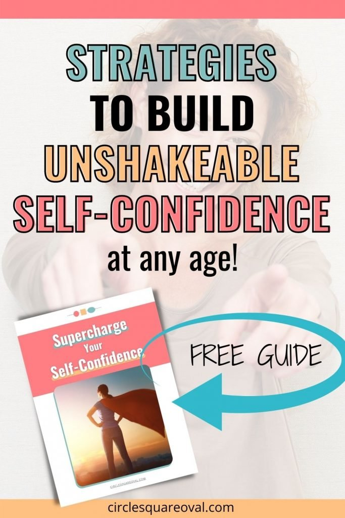 confident woman pointing at camera, strategies to build self-confidence
