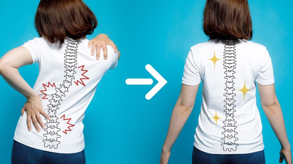 examples of good and bad posture and what it does to your spine
