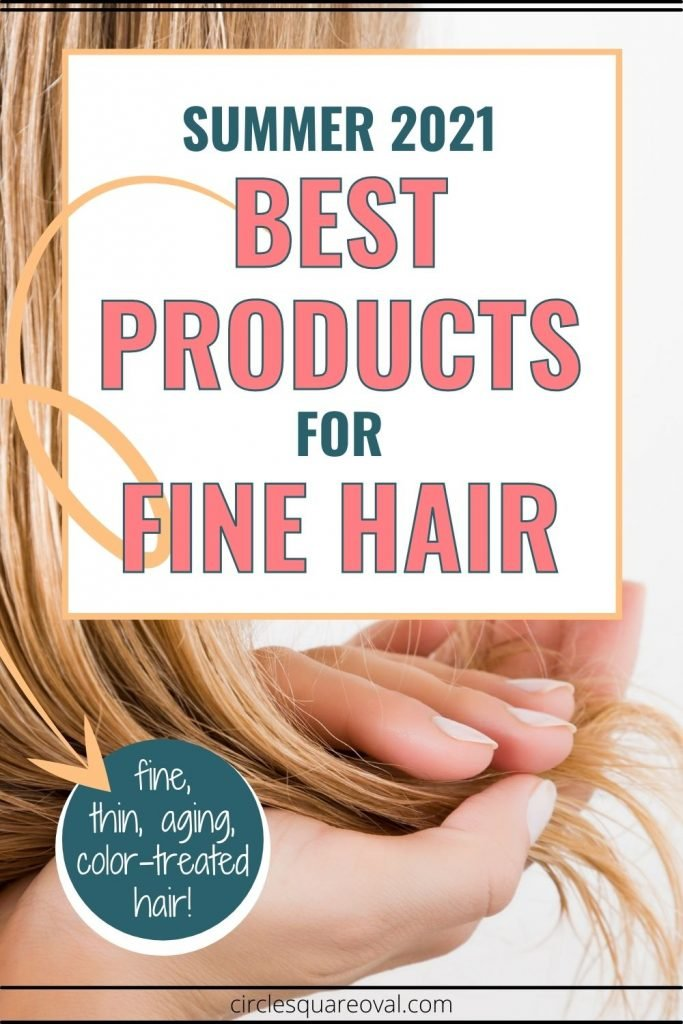 woman cupping strands of hair between her hands, best hair products of summer 2021