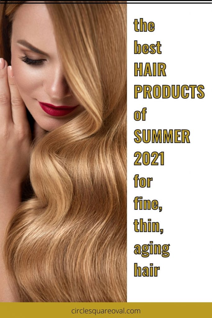 woman with long, thick, flowing golden hair, best hair products of 2021 summer