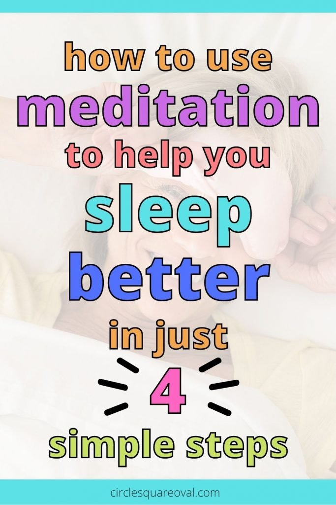 smiling woman waking up after a solid sleep, can meditation help you sleep