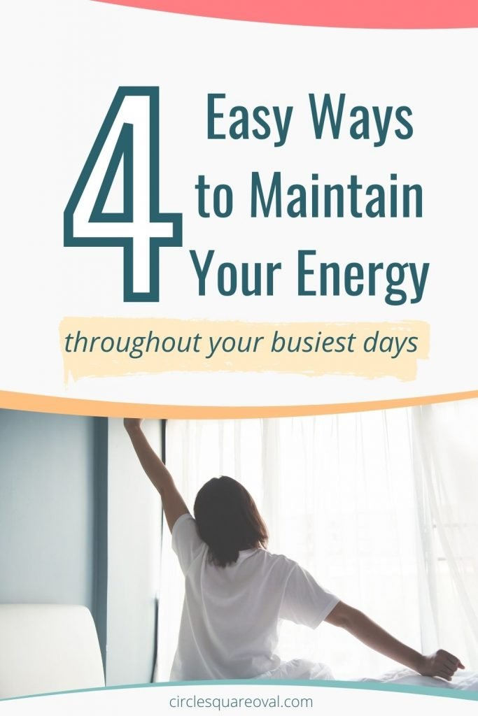 woman stretching as she gets out of bed, 4 easy ways to maintain your energy throughout your busiest days