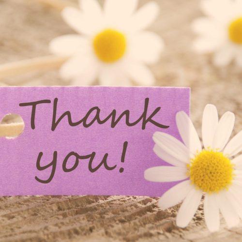 affirmation:  I express thanks