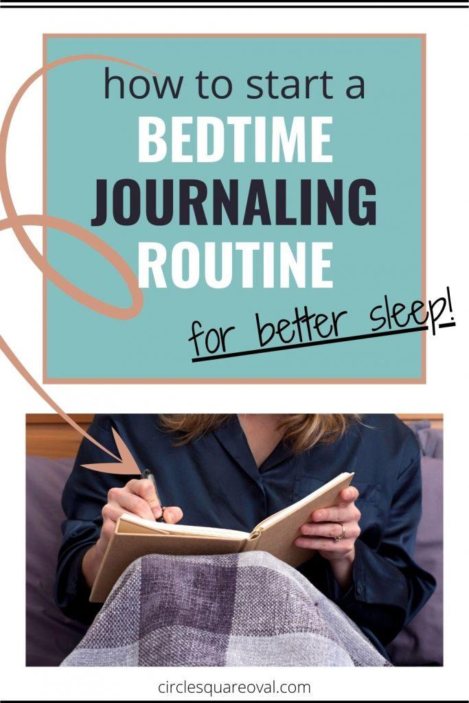 woman writing in tan journal, journaling helps you sleep