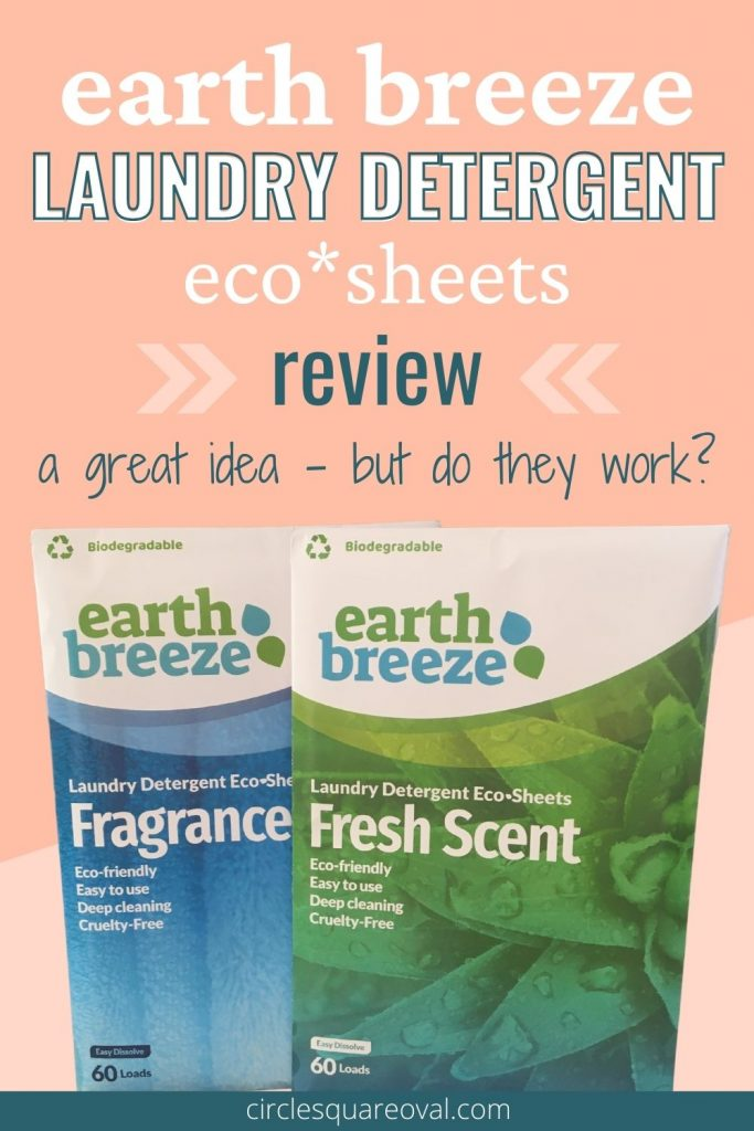 picture of two cardboard envelopes of earth breeze laundry detergent eco sheets