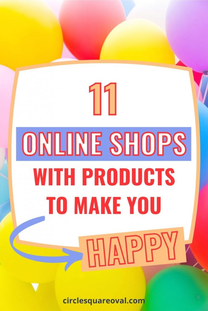 cluster of colorful balloons, online shops with products to make you happy