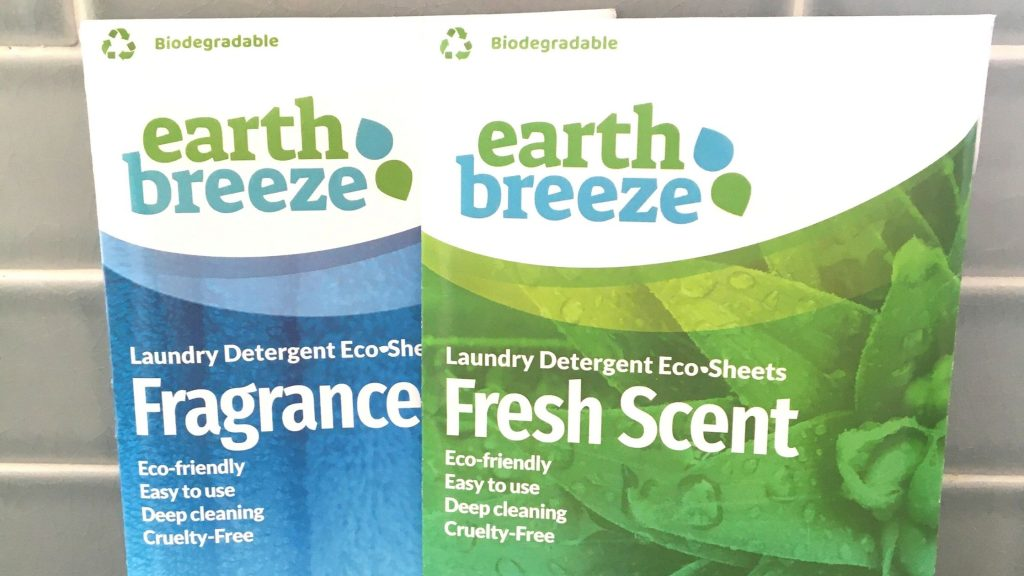 Earth Breeze Detergent Sheets Review of fragrance-free and fresh scent.